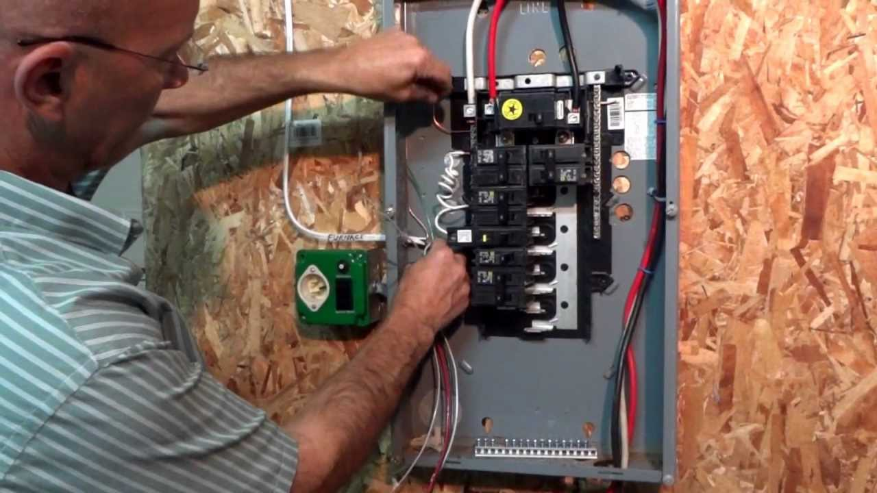 Wiring Up A Breaker Box Not Lossing Diagram Electrical Installing New Ez Generator Switch Installation Youtube Basic