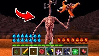 How to play SIREN HEAD in Minecraft! Real life family SIREN HEAD SCP! Battle NOOB VS PRO Animation