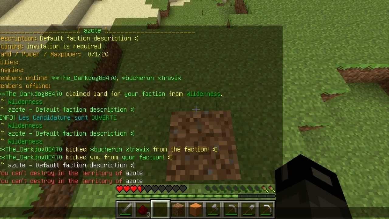 Tuto apprendre a utiliser les commandes dans sa faction for Maison du monde commande en ligne