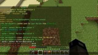 [Tuto] Apprendre a utiliser les commandes dans sa faction minecraft !