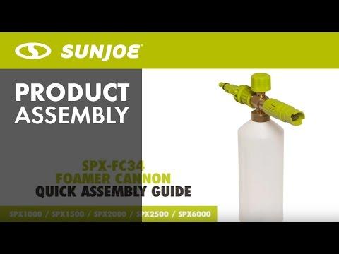 Sun Joe SPX-FC34 34-Ounce Snow Foam Cannon for SPX Series Electric Pressure