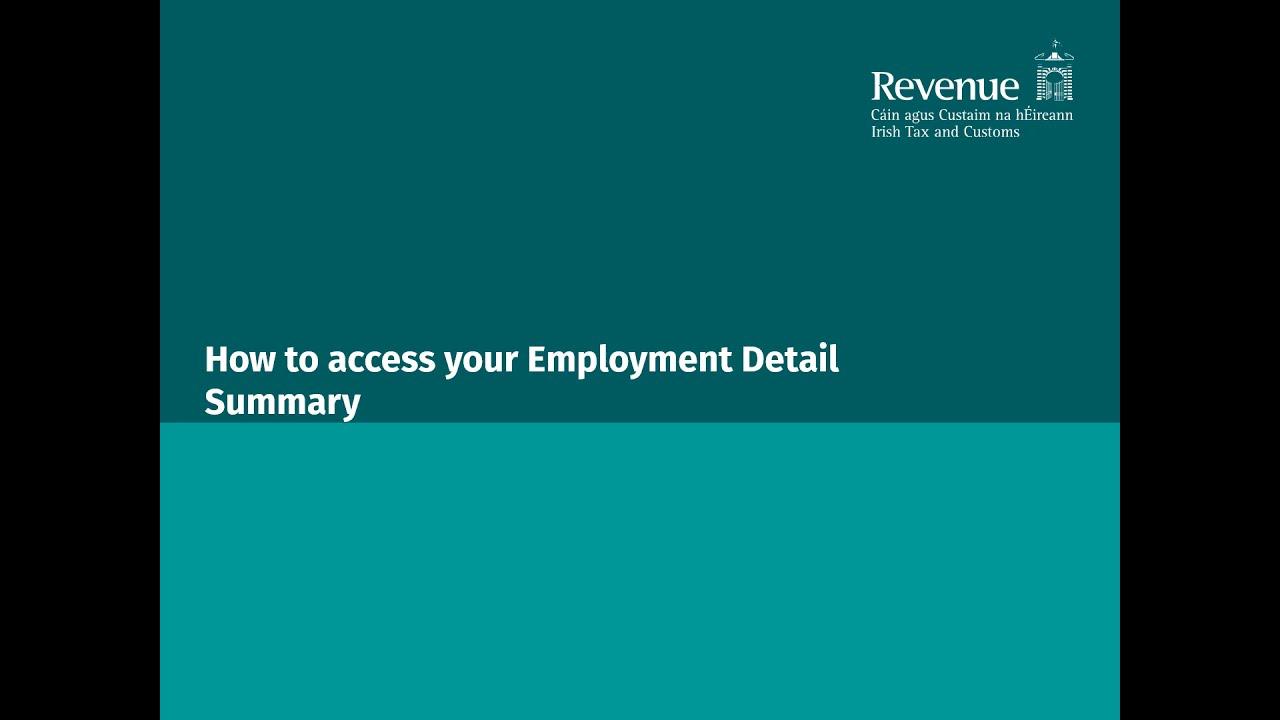 Pracodawca nie wystawił P60 za rok 2019. Co to jest Employment Detail Summary?