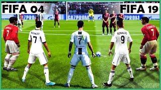 CRISTIANO RONALDO free kicks evolution [FIFA 04 - FIFA 19]