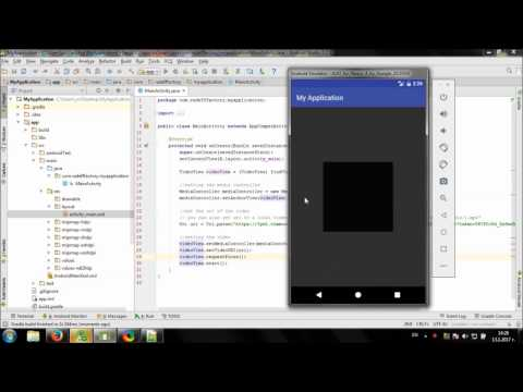 Develop simple Online Video Player in Android Studio