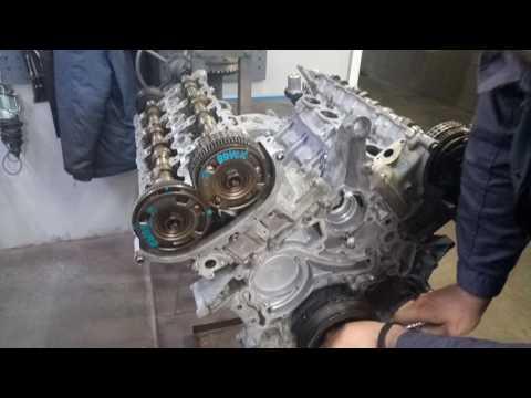 Фото к видео: установка цепи ГРМ Mercedes Benz M278