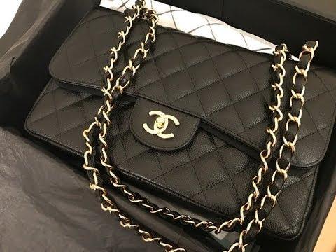 8a6de0d99ec1 CHANEL Classic Jumbo Double Flap bag Unboxing!! - YouTube
