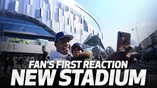 NEW STADIUM | Fans react at the new stadium's first test event