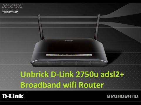 Unbrick D-Link DSL-2750u adsl broadband wifi router