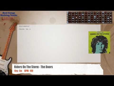Riders On The Storm - The Doors Guitar Backing Track with chords and lyrics