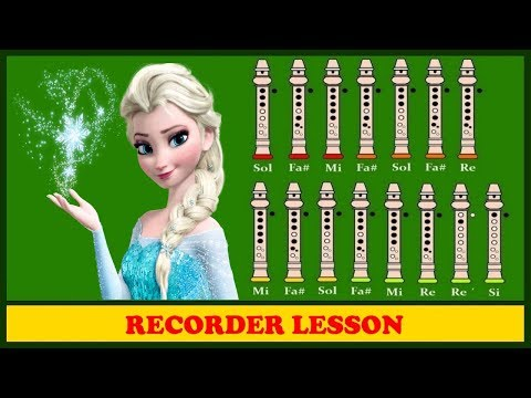 Frozen | Let It Go | Recorder Notes Tutorial ♪♪♪