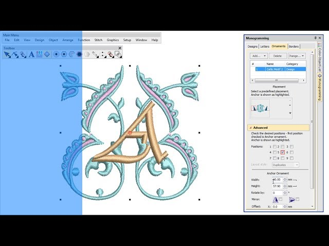 Creating monograms with Wilcom's EmbroideryStudio