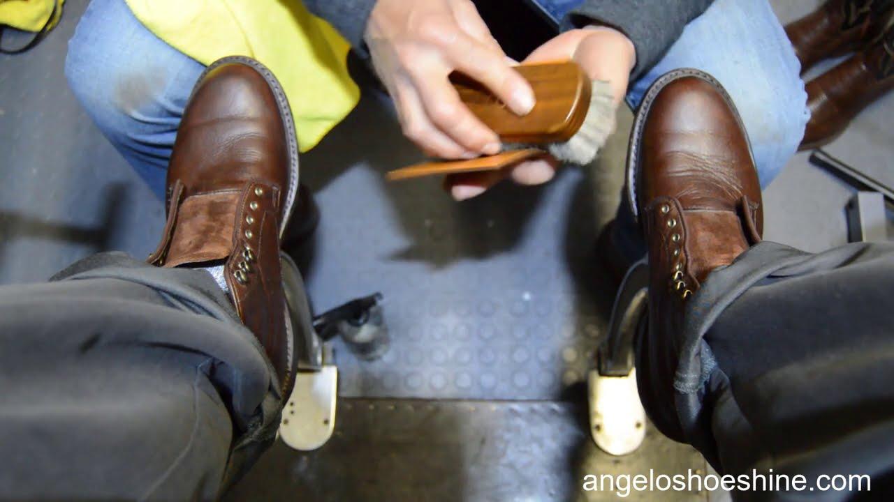 THE BOSS OF SHOE SHINE | ANGELO SHOE SHINE ASMR
