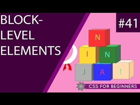 CSS Tutorial For Beginners 41 - Block-level Elements