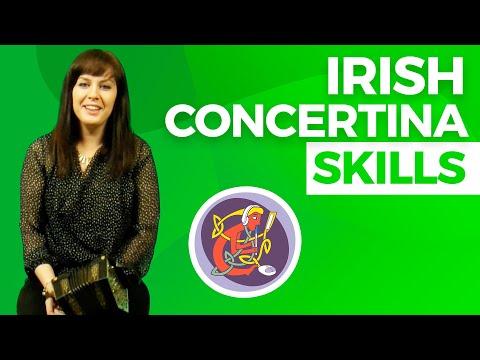 Intermediate Irish Concertina Lesson: Ornamentation + Fingering Technique with Edel Fox