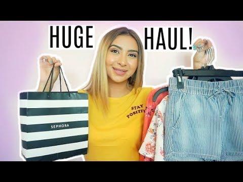 BIGGEST HAUL EVER! Clothing + Makeup!! ft. Arizona Jean Co