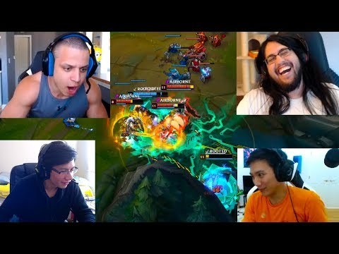Tyler1 Imaqtpie Shiphtur & Streamers Play 5v5 *MUST SEE* | Nightblue3 | Yassuo | LoL Funny Moments