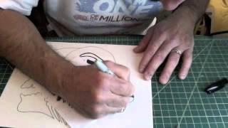 Drawing Santa Muerte