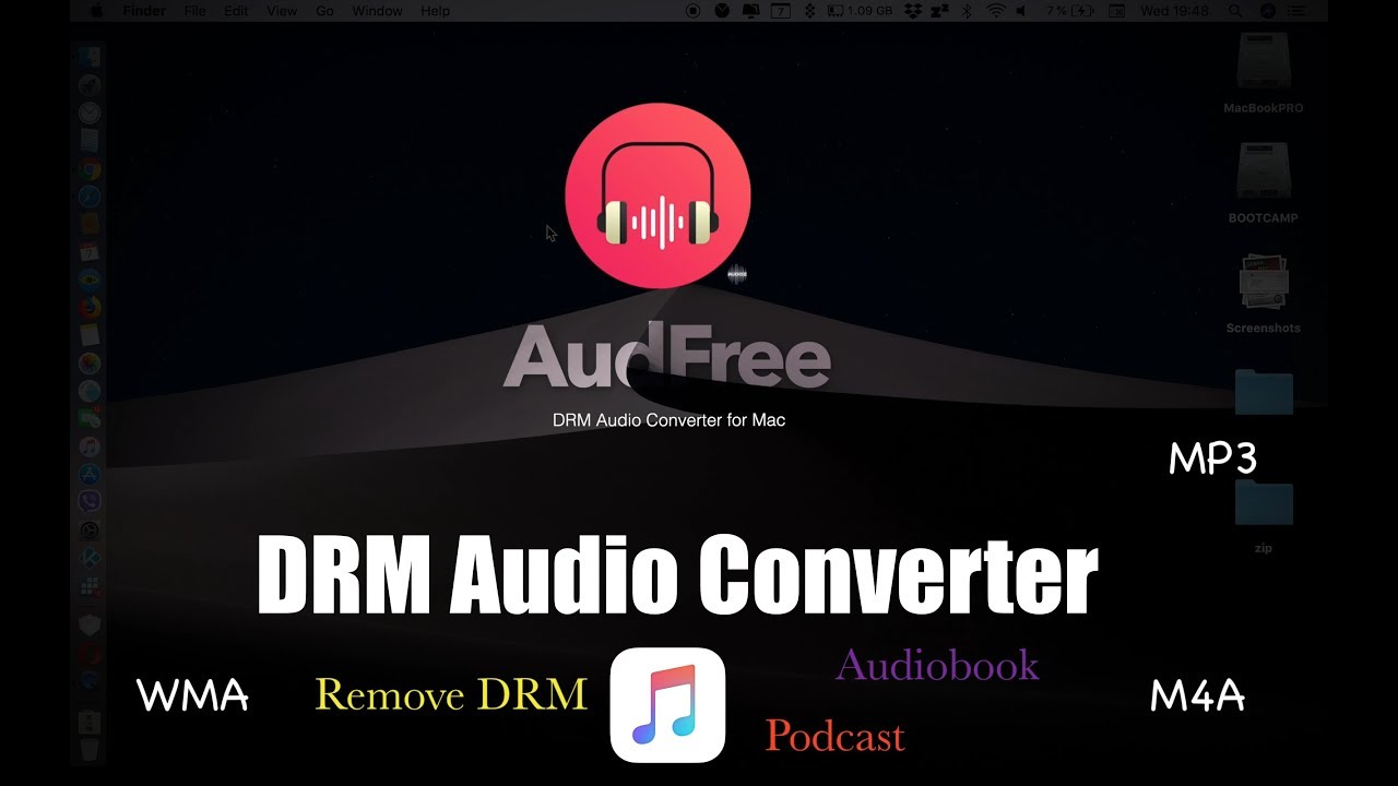 remove drm audible books mac