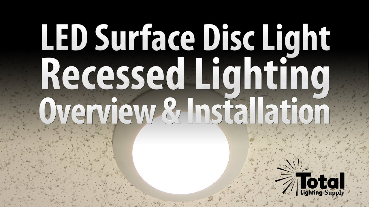 Sylvania LED Disc Light for Recessed Surface Lighting Overview u0026 Install - Total Recessed Lighting - YouTube & Sylvania LED Disc Light for Recessed Surface Lighting Overview ... azcodes.com
