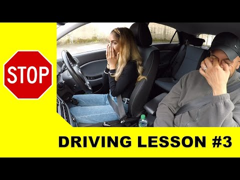 Learner Driver Accidentally Presses Gas Pedal Instead Of Brake On Driving Lesson