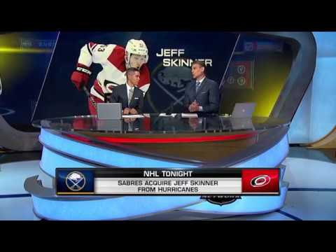 NHL Tonight:  Skinner to Sabres:  Sabres acquire Jeff Skinner from Hurricanes  Aug 2,  2018