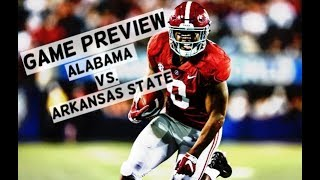 Alabama Crimson Tide Football: Game preview vs. Arkansas State