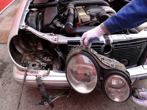 Снятие передней фары Mercedes W210 Headlight Removal