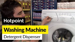 how to replace the washing machine dispenser drawer on a hotpoint washing machine