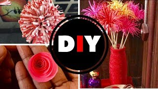 D I Y Flower & a Vase Craft / Valentines Day Special