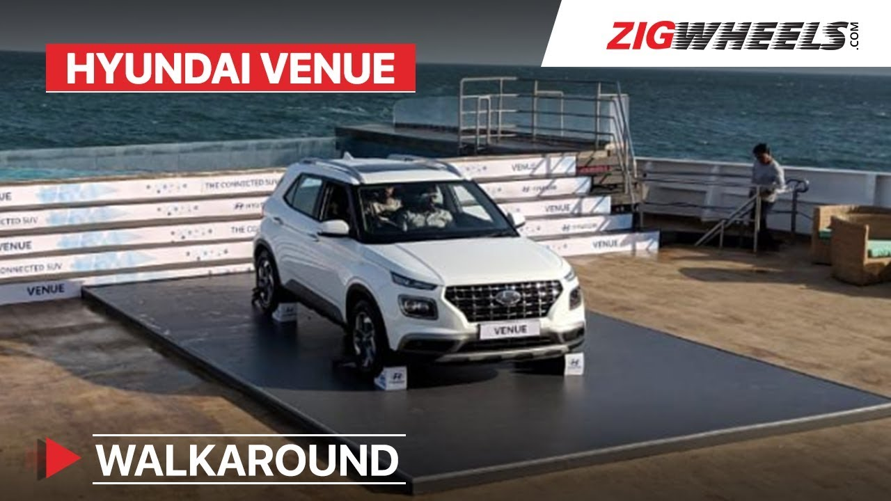 Hyundai Venue 2019 Walkaround Specs Features And Variants Revealed Zigwheels Com Youtube
