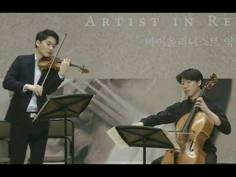 Handel-Halvorsen Passacaglia - InMo Yang, Taeguk Mun (press conference) 양인모 문태국