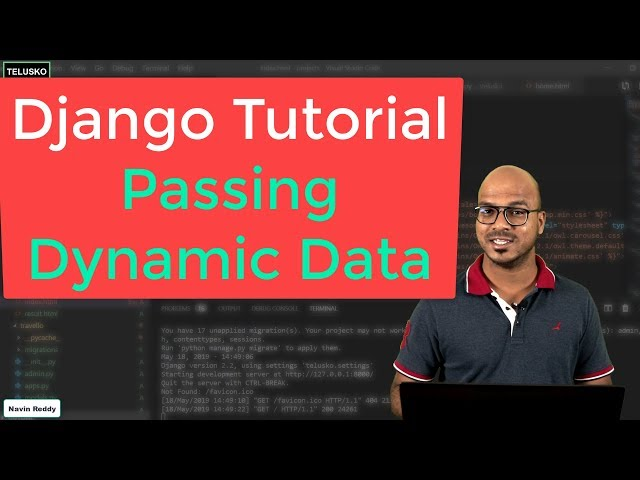 #12 Django tutorials   Passing Dynamic Data in Html part 1