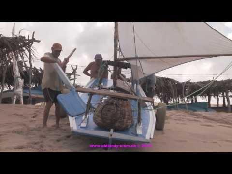 Unique fishing sailboat, Rio Grande do Norte, Brazil