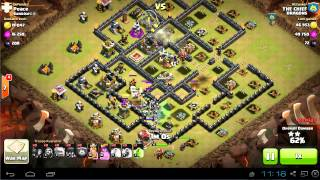 TH9 vs TH9 gowiwi attack for 3 stars | clan wars | clash of clans