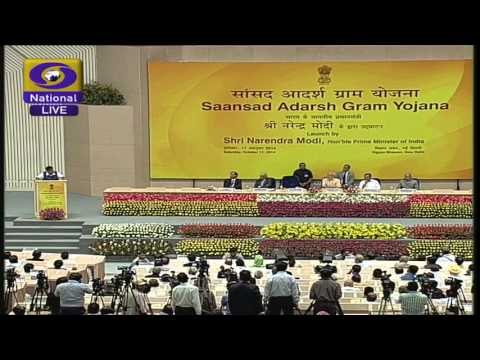 "The launch of ""Saansad Adarsh Gram Yojna"" by the Prime Minister Narendra Modi"