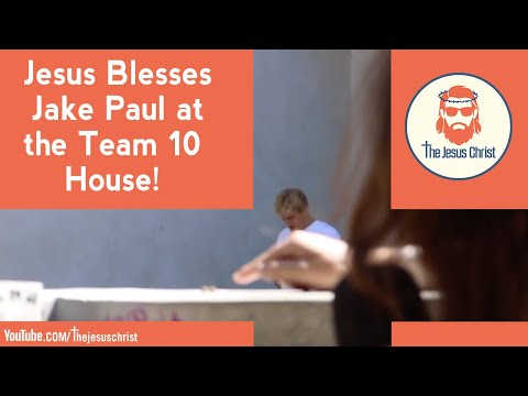 Jesus blesses Jake Paul at the Team 10 house! 🙏