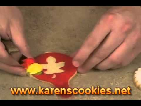 Cookie Decorating with Cookie Stencils   YouTube