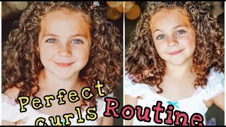 CURLY HAIR ROUTINE - NO HEAT! Perfect defined curls