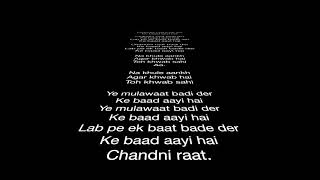 Chandni Raat by Ali Sethi Karaoke  HD 1080p