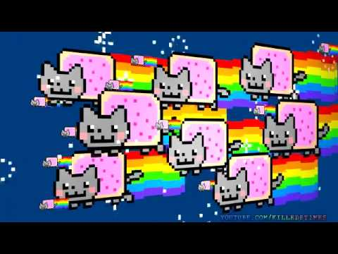 nyan cats attack   youtube