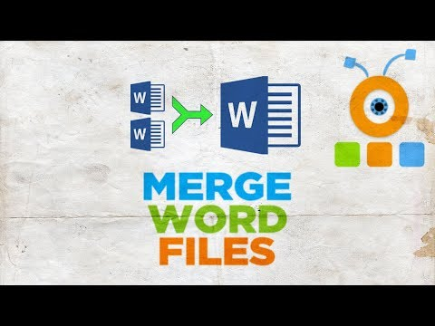 How To Merge Word Files 2019 | How To Merge Multiple Word Documents Into One 2019