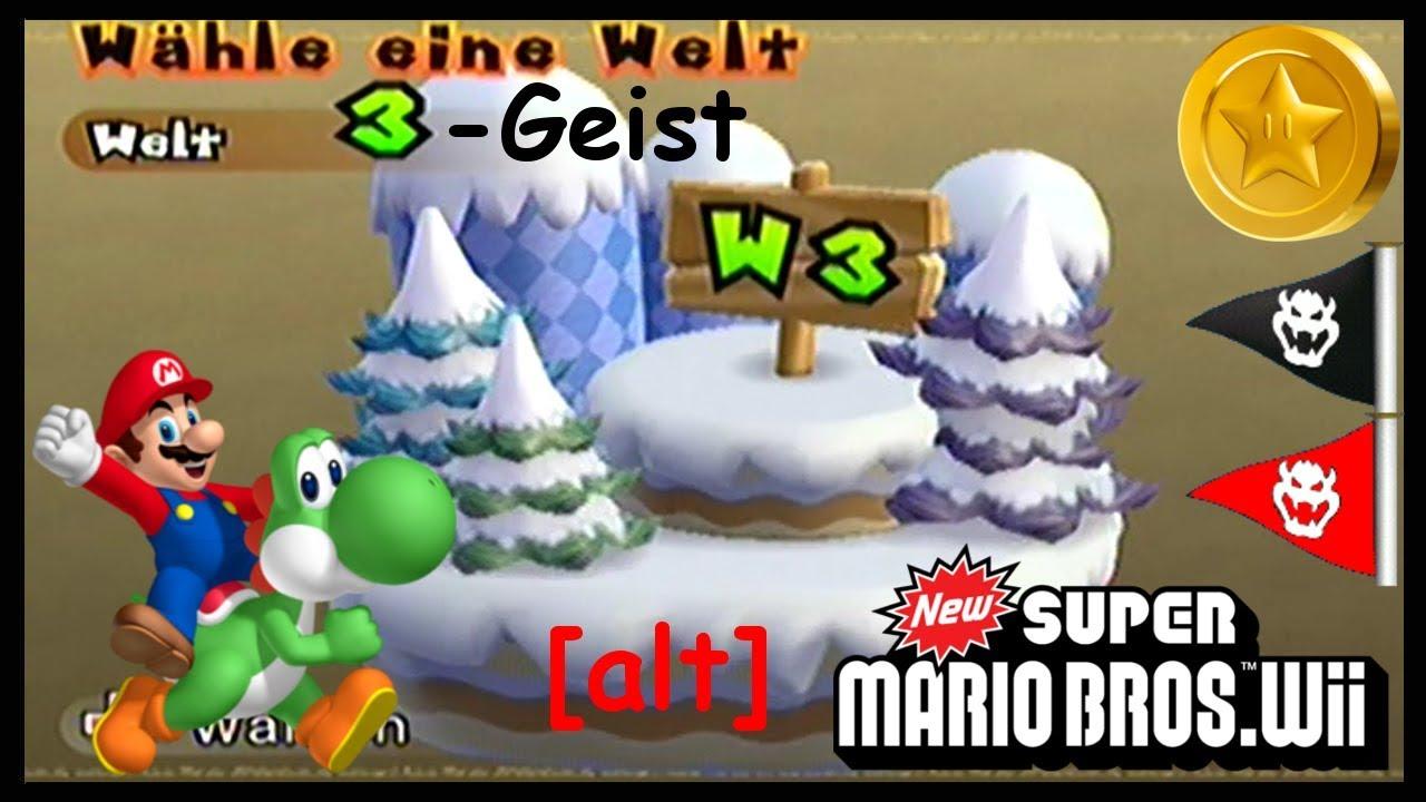 New Super Mario Bros Wii 20 Welt 3 Geist Sternenmünzen Geheimweg