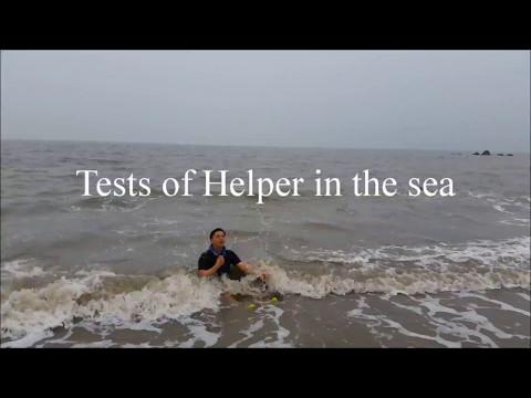 Испатание Хелперов в море. HELPER SAFETY PRECAUTION FLOATING NECK BRACELET