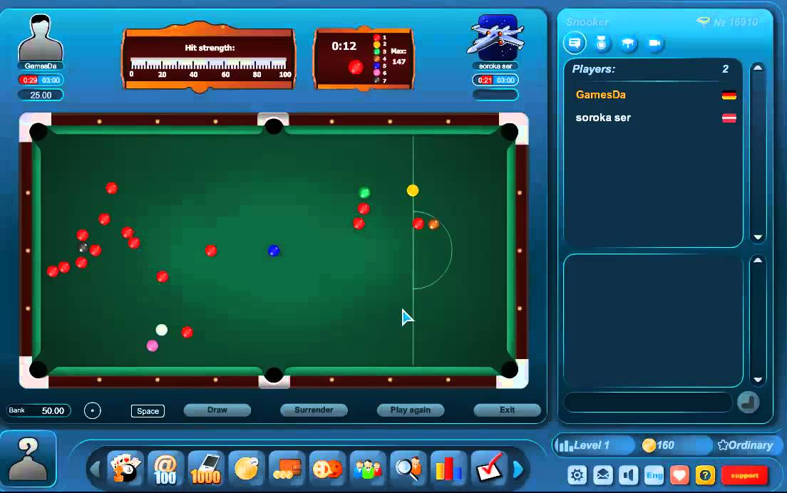 Snooker Online Multiplayer