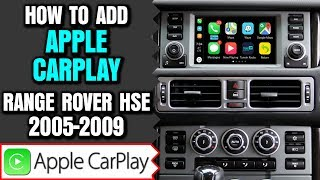 Range Rover Apple Carplay - How To Add Apple CarPlay Land Rover Range Rover L322 2005-2009 NavTool
