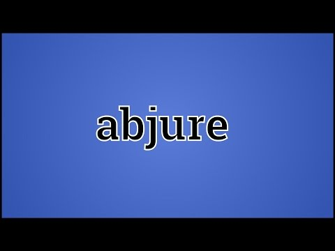 What Abjure Means