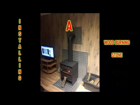 Installing A Wood Burning Stove In A Container House Youtube