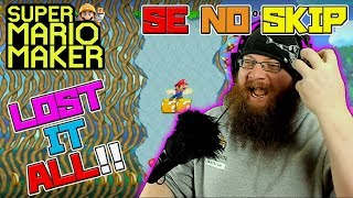 LOST IT ALL! - Super Mario Maker - Super Expert No Skip with Oshikorosu