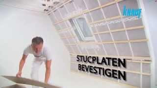 Hellend dak afwerken met stucplaten