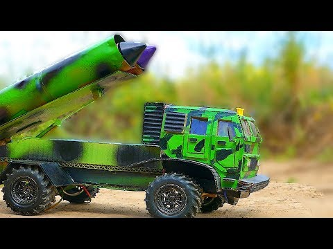 Military Rocket Launcher On A Truck Of Cardboard Version 2. + Bonus At The End